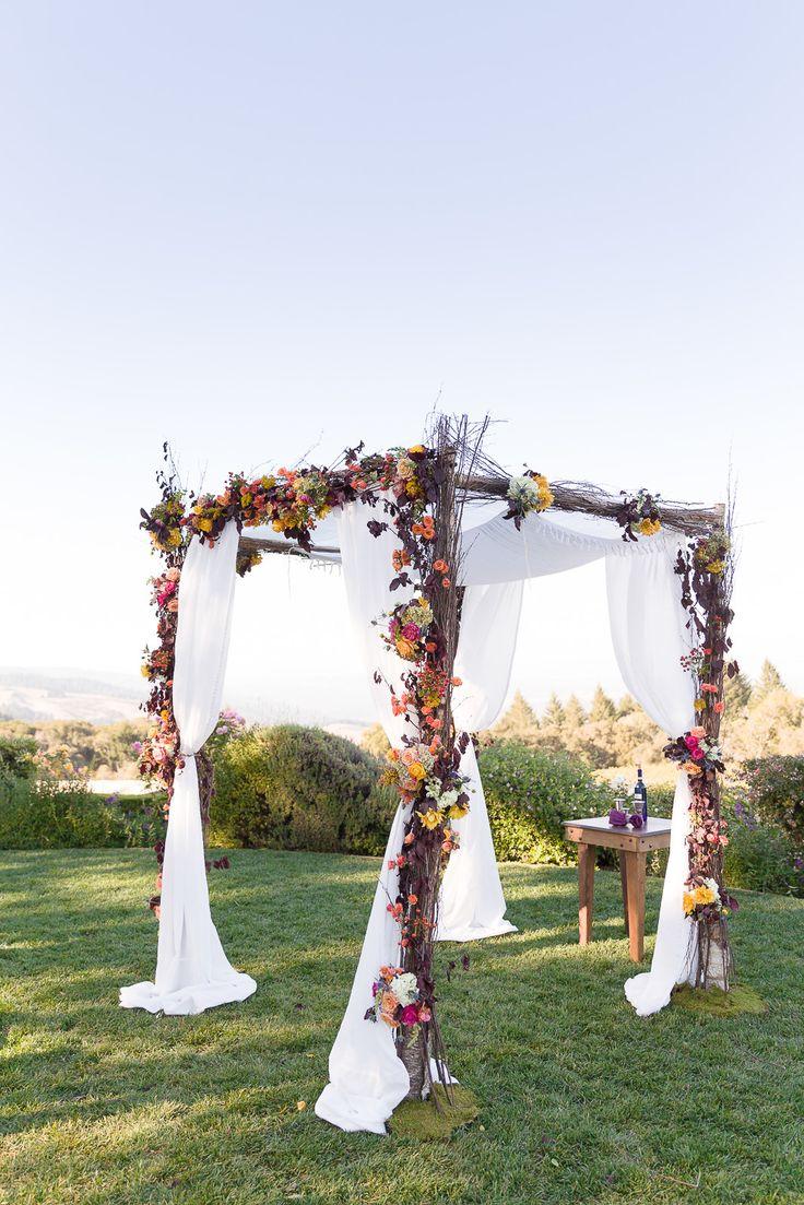 36 fall wedding arch ideas for rustic wedding wedding arbor Rustic Fall Wedding Color Ideas and Fall Flower Arbor