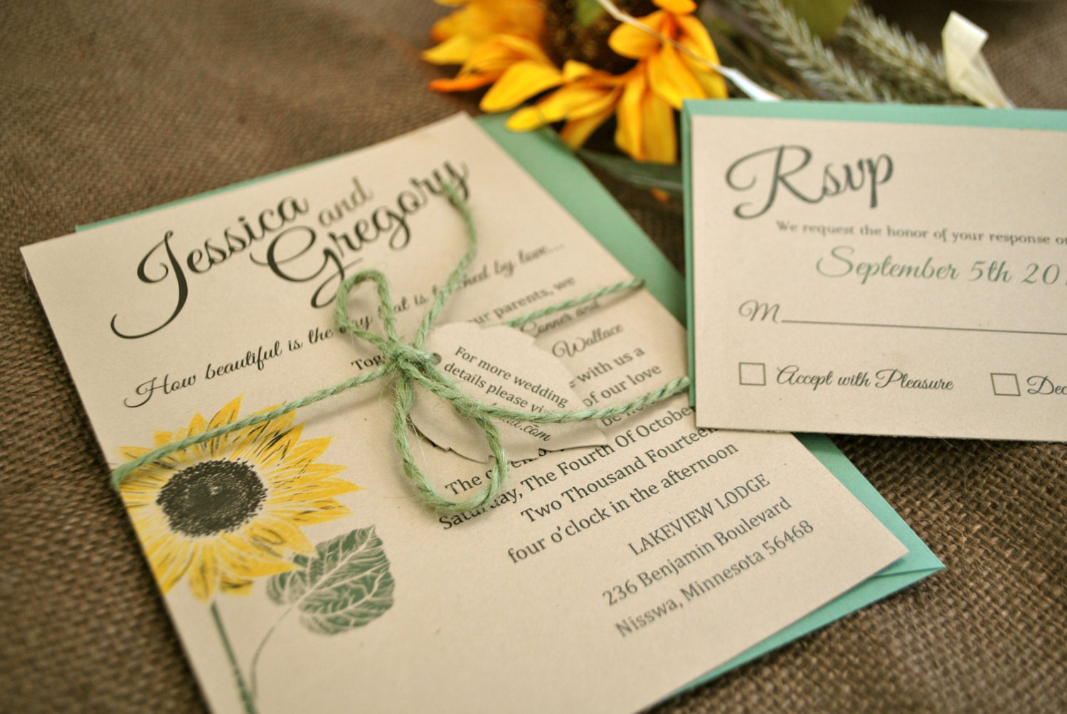 Fullsize Of Sunflower Wedding Invitations