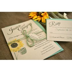 Small Crop Of Sunflower Wedding Invitations