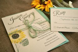 Small Of Sunflower Wedding Invitations