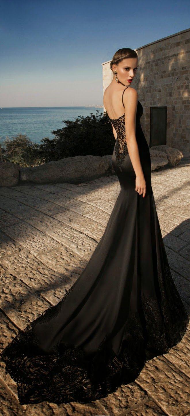 25 gorgeous black wedding dresses black mermaid wedding dresses MoonStruck Galia Lahav Black Mermaid Dress for Wedding