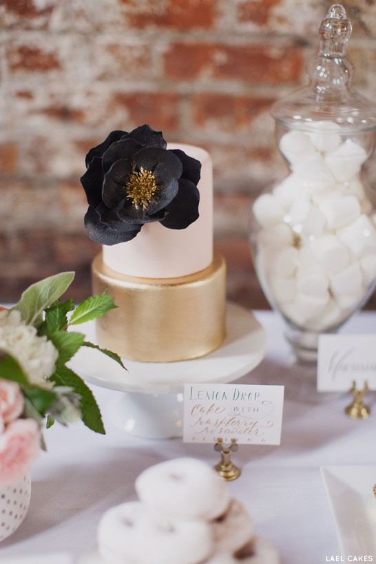 49 Amazing Black and White Wedding Cakes Deer Pearl Flowers - pink black and white weddings