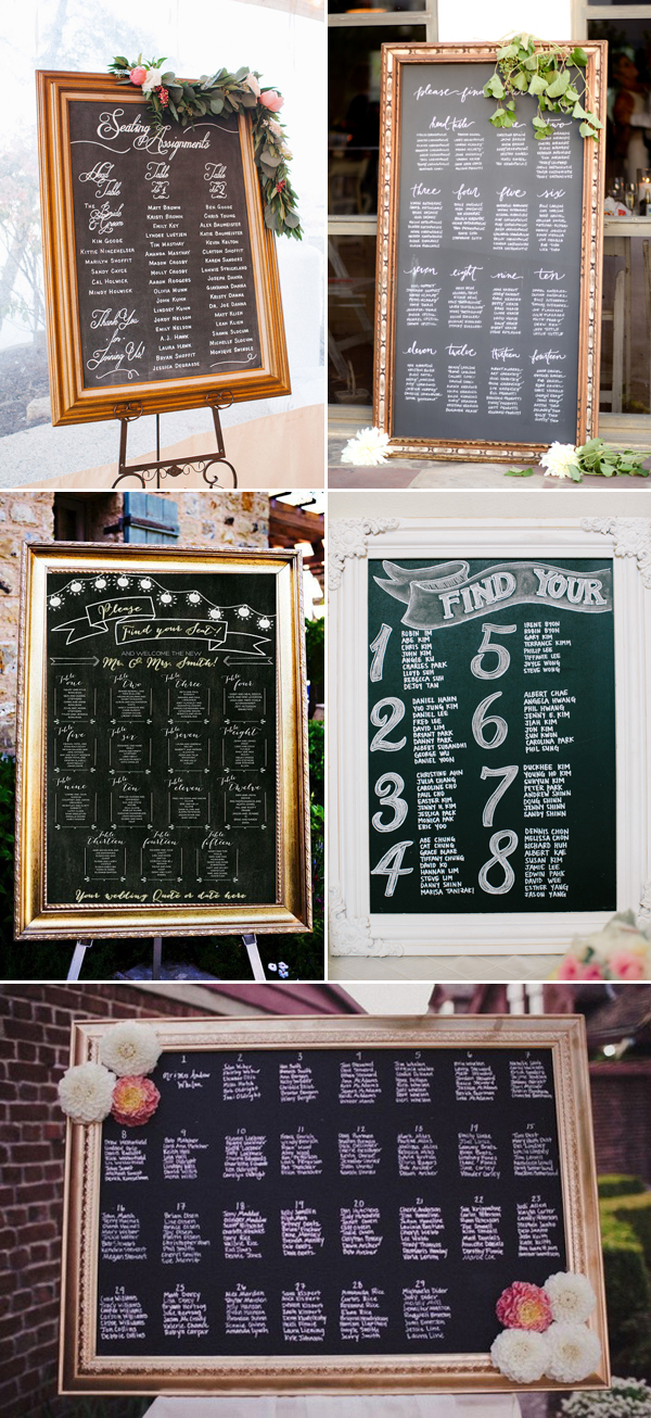 25+ Wedding Seating Chart Ideas Your Guests Will Love! Deer Pearl