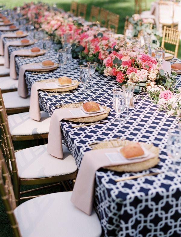 pink, black and white color palettes for summer weddings Deer