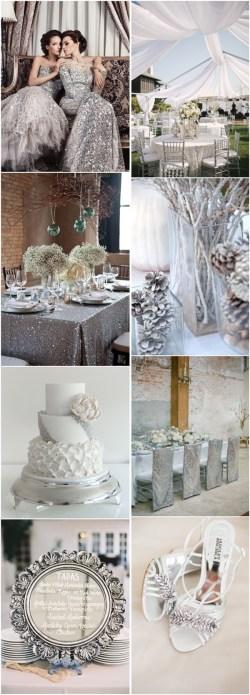 Mesmerizing Silver Winter Wedding Color Ideas Silver Winter Wedding Color Ideas Deer Pearl Flowers Winter Wedding Colors 2018 Winter Wedding Colors Palette