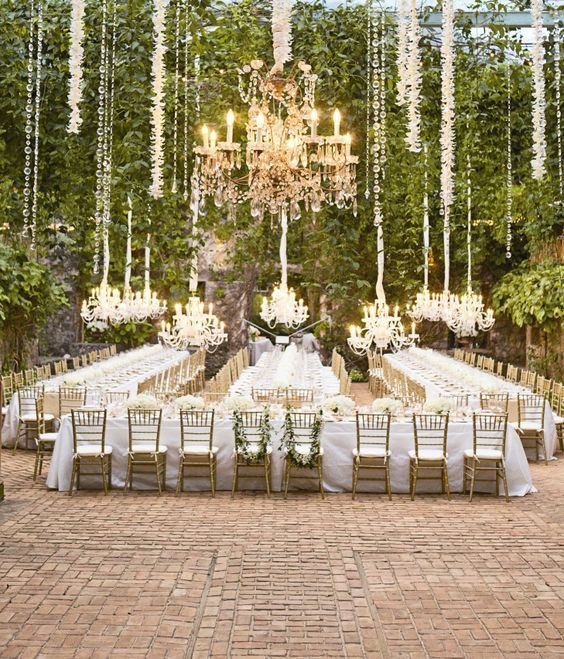 Wedding table seating reception idea via Aaron Delesie Photography