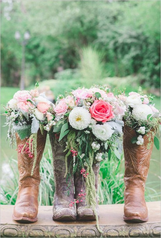 Fall Outdoor Decorations Wallpaper 40 Rustic Country Cowgirl Boots Fall Wedding Ideas Deer