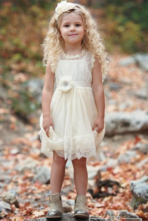Cute Stylish Child Girl Wallpaper 20 Flower Girl Dresses For Country Weddings Deer Pearl