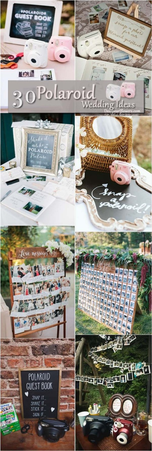 Medium Of Polaroid Guest Book