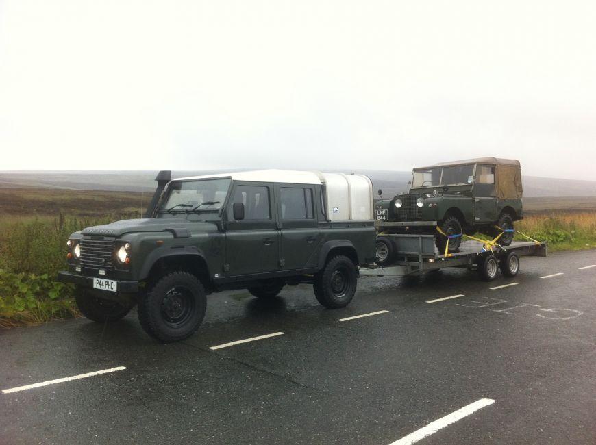 Defender 130 towing grandad Land Rover Defender Pinterest - army memo