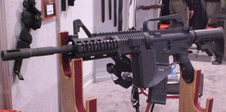 The Integrated Grip Rail System (IGRS) from Grauer Systems on display at the 2010 SHOT Show. Photo by Scott R. Gourley