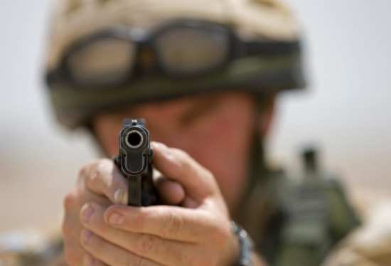 British soldier Browning Hi-Power
