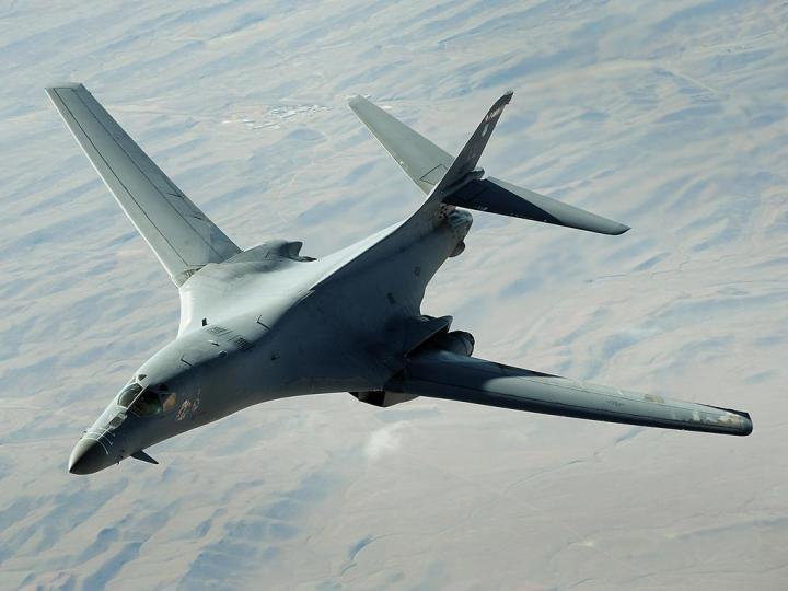 B-1B in flight