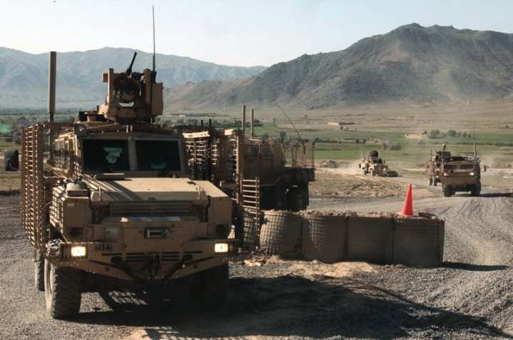 U.S. soldiers from Route Clearance Patrol 45, 57th Engineer Company, 27th Engineer Battalion, 20th Engineer Brigade, XVIII Airborne Corps, arrive at Combat Outpost Nerkh after making sure the route is clear from Forward Operating Base Airborne in Wardak province, Afghanistan, June 9, 2010. Some 26,000 MRAPs have been built and are still in production, but they are not suitable for all terrains and tasks, and the Marine Corps and Army are working to determine their future tactical vehicle fleets in a constrained budget environment. U.S. Army photo by Sgt. Derec Pierson