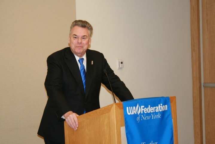 Rep. Peter King speaks to UJA Federation of New York