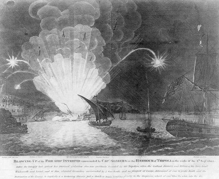 Blowing up of Intrepid