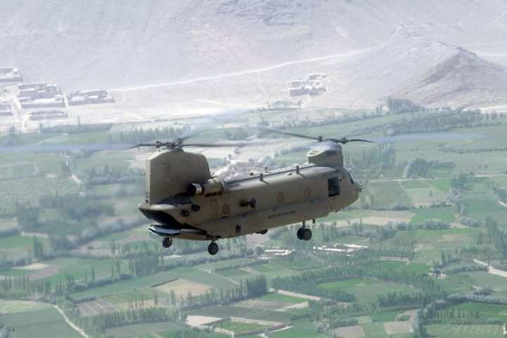 CH-47F over Afghanistan