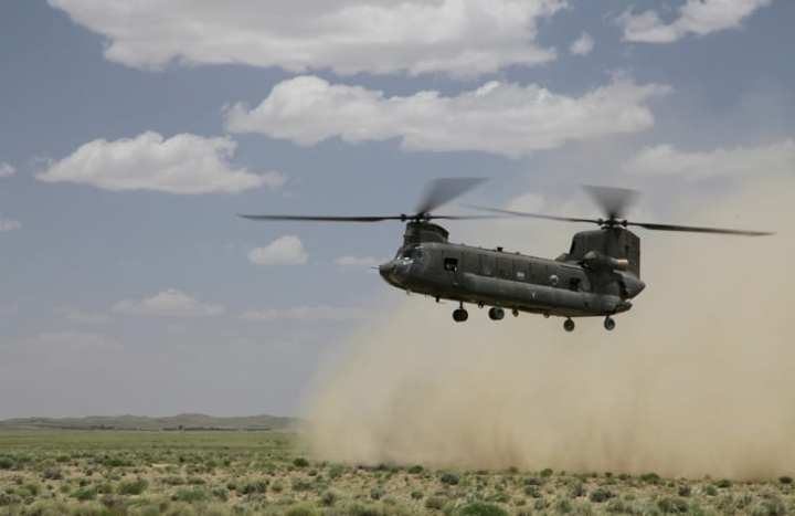 Chinook LZ Afghanistan