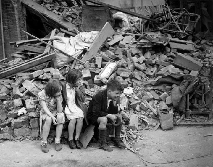 WWII London Blitz East London Children
