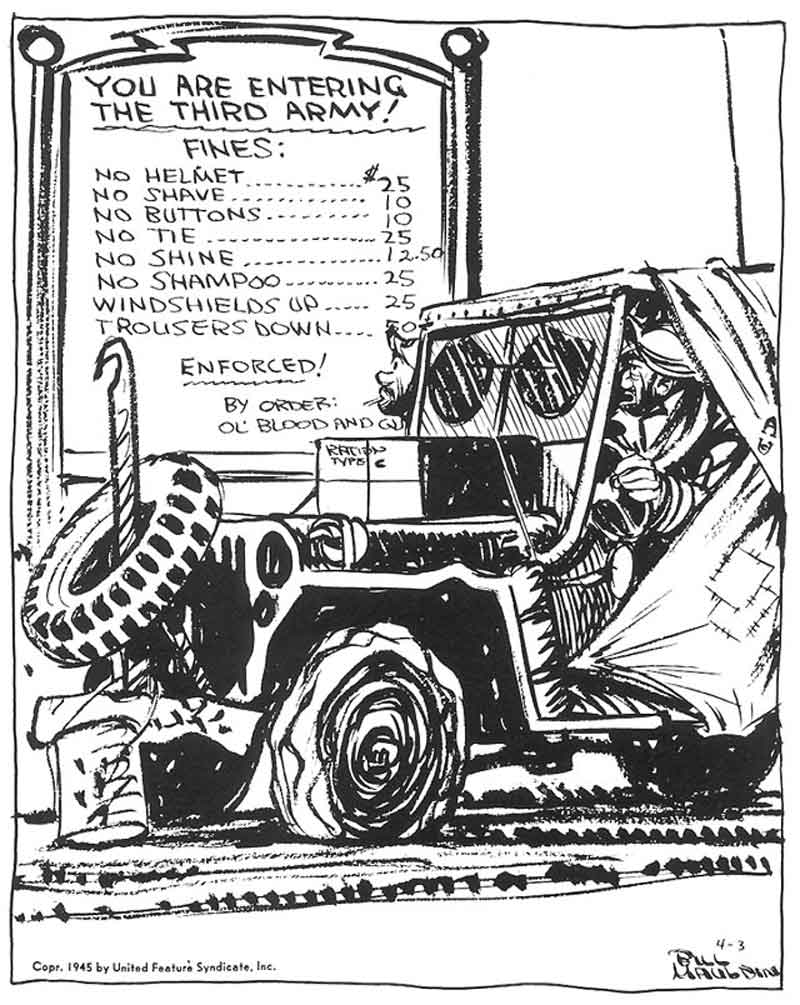 Bill Mauldin's Willie and Joe Cartoon