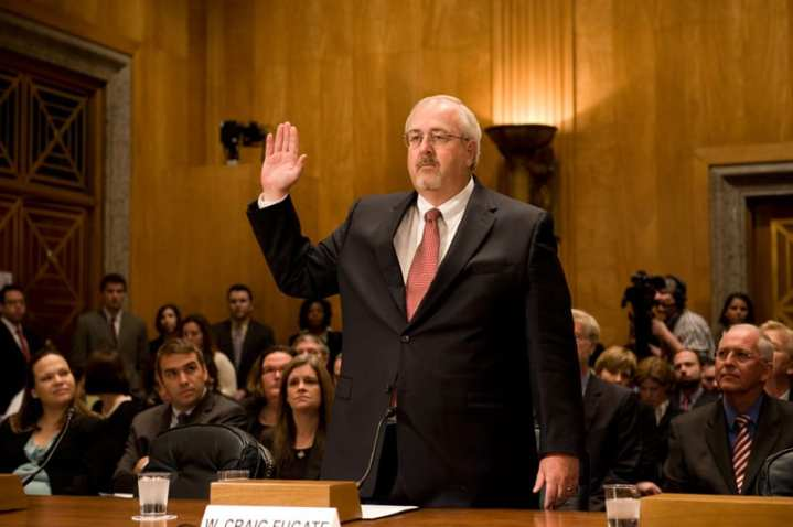 W. Craig Fugate at the Senate Committee on Homeland Security and Governmental Affairs Confirmation Hearing for the administrator of FEMA in 2009. While Fugate's confirmation was relatively smooth, prospective candidates for jobs at DHS may opt out of a confirmation process that has become increasingly invasive and combative. FEMA photo by Bill Koplitz