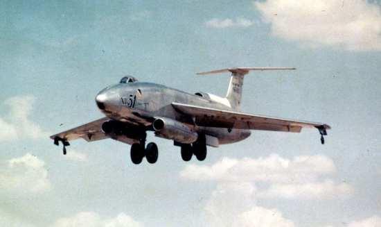 Martin XB-51 landing