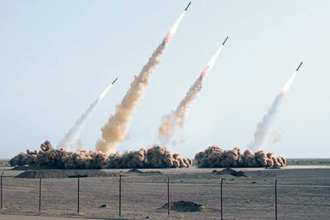 A photo of an Iranian missile test that was later proven to have been digitally altered, July 10, 2008. Fars News Agency photo