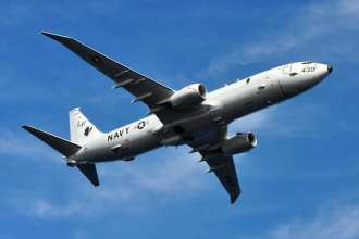 A P-8A Poseidon assigned to Patrol Squadron (VP) 16 is seen in flight over Jacksonville, Fla., Feb. 6, 2013. U.S Navy photo by Personnel Specialist 1st Class Anthony Petry