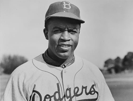 Brooklyn Dodger Jackie Robinson