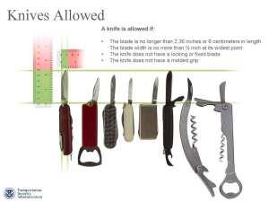 TSA Small Knives Allowed