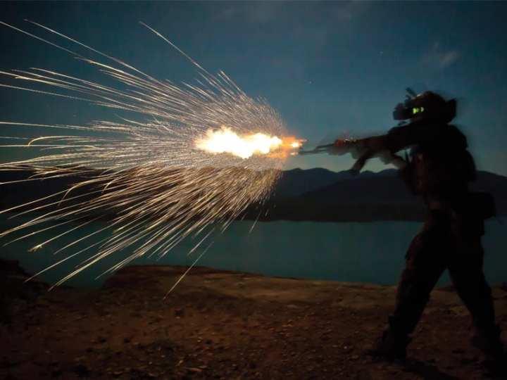Night fire sustainment training Helmand province