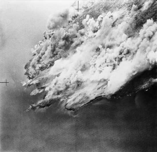 Pantellaria under bombardment