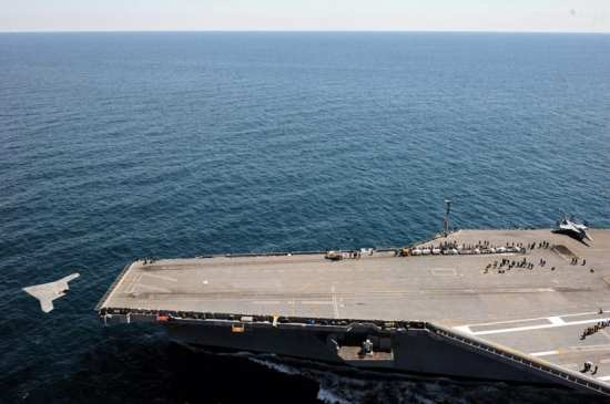 X-47B launches from CVN 77
