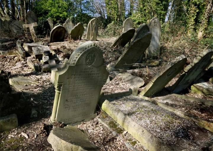 tumbled headstones