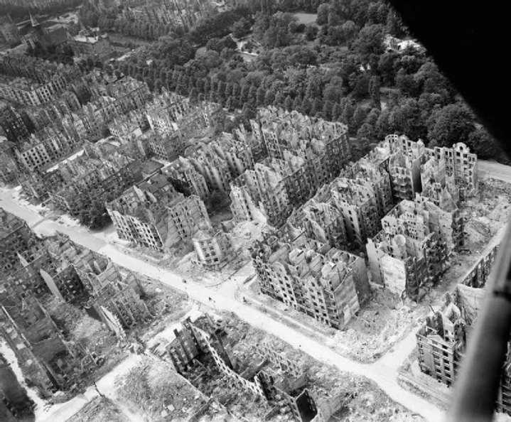Firebombed Hamburg, Germany