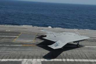 X-47B catches wire