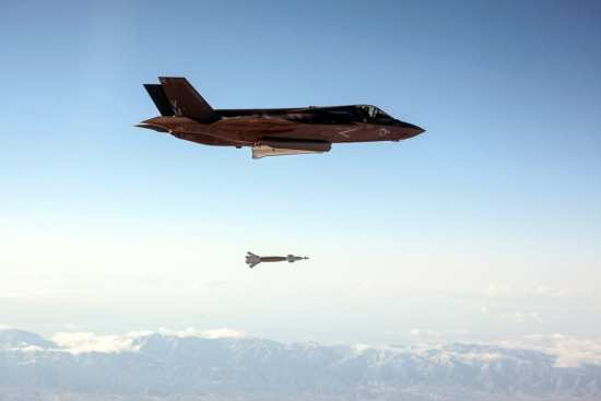 First F-35 Laser-Guided Bomb Test