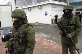 Ukraine, Crimea, Simferopol unidentified troops