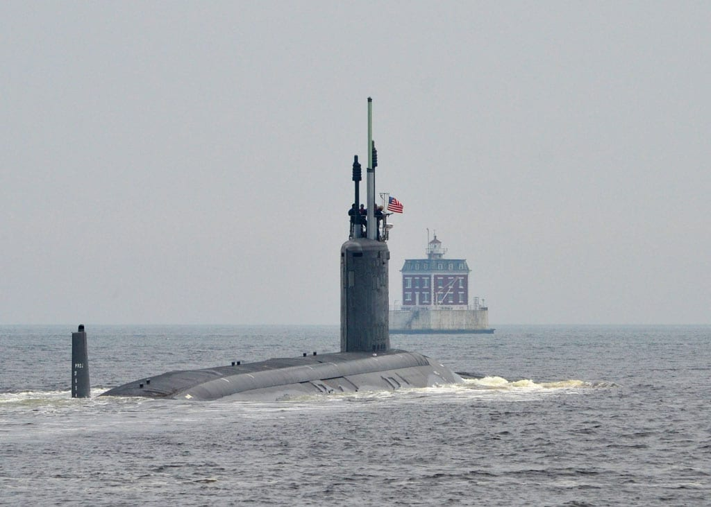 Virginia-class attack submarine USS Missouri (SSN 780) exits - transfer agreement