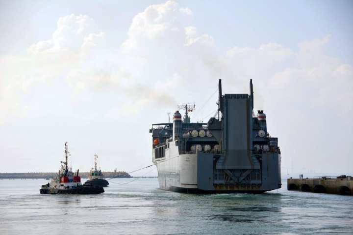 Cape Ray departs Rota