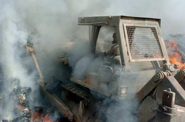 Burn pits airborne hazards