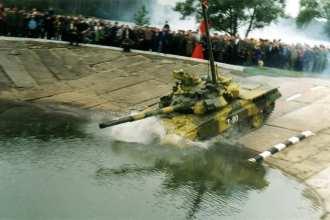 Т-90 underwater