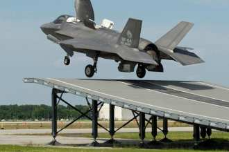 F-35B first ski-jump launch