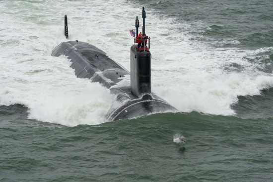 SSN 785 John Warner on Sea Trials