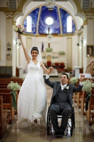 Felizes da vida. Casamento foi além da superação, seguiu o caminho natural do amor. (Foto: Eurides Aoki)