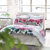 Designers Guild Chenevard Silver and Willow Quilts and Shams
