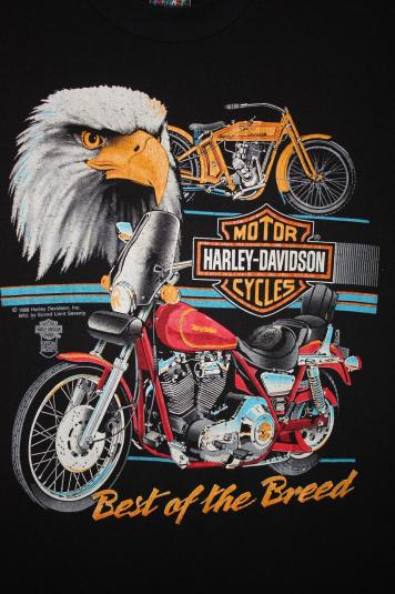 Fall Christian Wallpaper Vintage 80 S Harley Davidson Eagle Best Of The Breed T Shirt