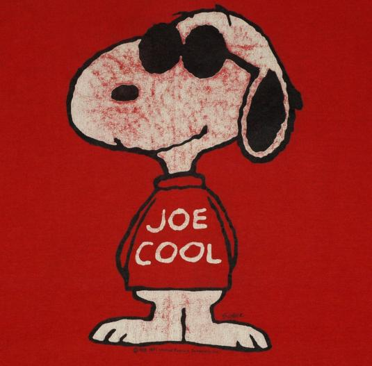 Full Hd Wallpaper Couple Vintage 1980s Snoopy Joe Cool Red T Shirt 80s