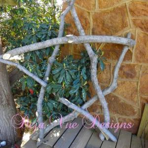 rustic star, texas star, star from tree branches