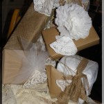 grouping of gifts wrapped in all natural elements